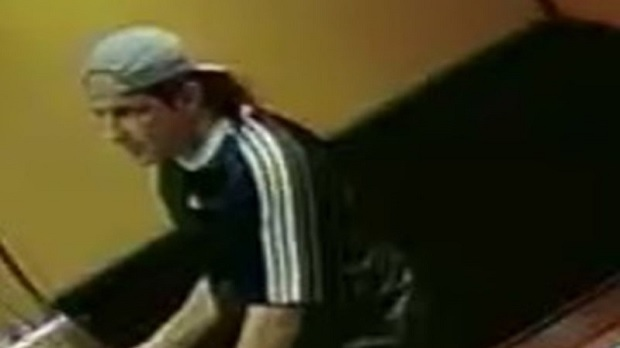 Police released this image of  a male suspect wanted in connection with a fraud investigation.