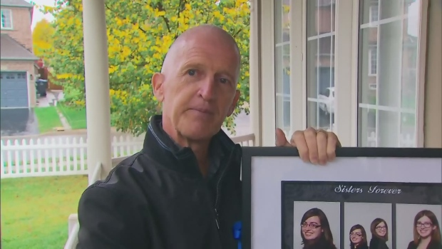 Darin Bouchard, the father of two daughters killed in a fatal collision in Brampton on Thanksgiving, speaks with CTV Toronto on Oct. 20, 2016.