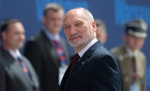 Polish Defence Minister Antoni Macierewicz arrives at the NATO summit in Warsaw, Poland, Friday, July 8, 2016. (AP Photo/Markus Schreiber)