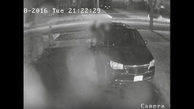 A screen grab image from security camera footage of an apparent sexual assault in the city's Don Valley Village area. (Toronto police handout)