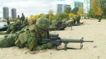 Soldiers conduct beach assault exercise in Toronto