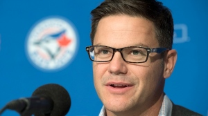 Toronto Blue Jays general manager Ross Atkins holds his season ending news conference in Toronto on Monday, October 24, 2016. THE CANADIAN PRESS/Frank Gunn