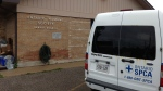 An Ontario SPCA van is seen parked outside the Barrie branch of the Ontario Humane Society in this undated photo.
