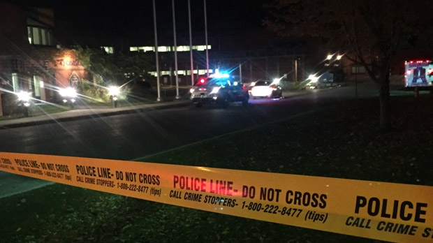 One male was rushed to hospital after a shooting in Woburn overnight. (Mike Nguyen/ CP24)