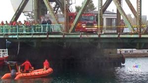 Vehicle veers off road plunges into Lake Ontario