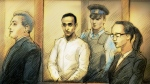 Mohammed Shamji, 40, is shown in a courtroom sketch from Dec. 3. (Alex Tavshunsky)