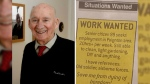 Joe Bartley, 89, is shown with the advertisement he posted in the paper. (Torquay Herald Express / Andy Styles)