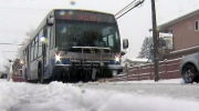 Snow leaves hundreds of transit users stranded