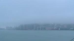 Toronto skyline, fog