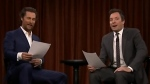 Matthew McConnaughey and Jimmy Fallon read a script penned by Ontarios Leo Chicoine on 'The Tonight Show.'