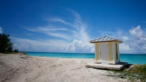 A beach in Bimini, Bahamas, on Sept. 11, 2013. (J Pat Carter / AP)