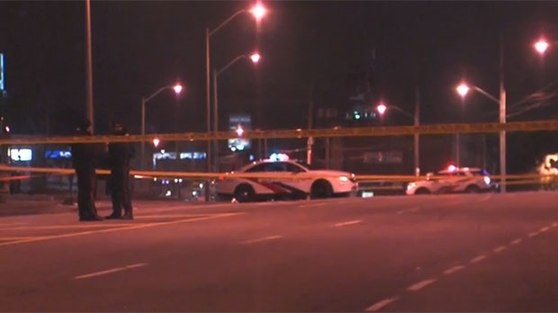 A man was critically injured in a shooting in Toronto's Humber Summit neighbourhood Monday morning.