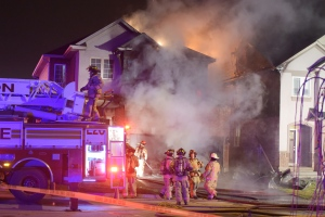 A house on Copperwood Avenue was completely destroyed in an overnight fire, Hamilton police say. (Andrew Collins/ CP24)