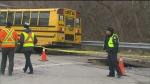CTV Toronto: School bus falls in sinkhole