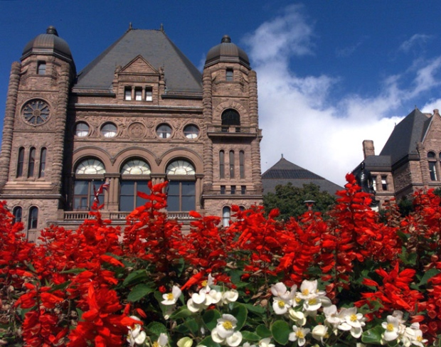 The Ontario Legislature building sits in Queen's Park in Toronto. (Frank Gunn / THE CANADIAN PRESS.)