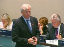 Toronto Mayor David Miller speaks at City Hall during the debate on the revenue issues on Monday, July 16, 2007.