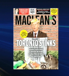 Maclean's magazine took aim at Toronto's strike woes on its cover.