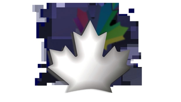 Vertical currency maple leaf