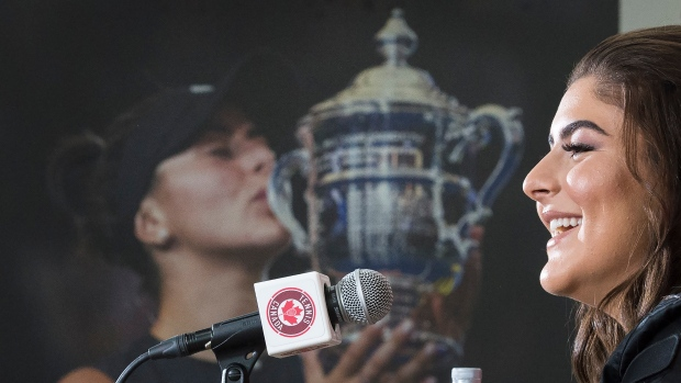 Bianca Andreescu speaks in Toronto