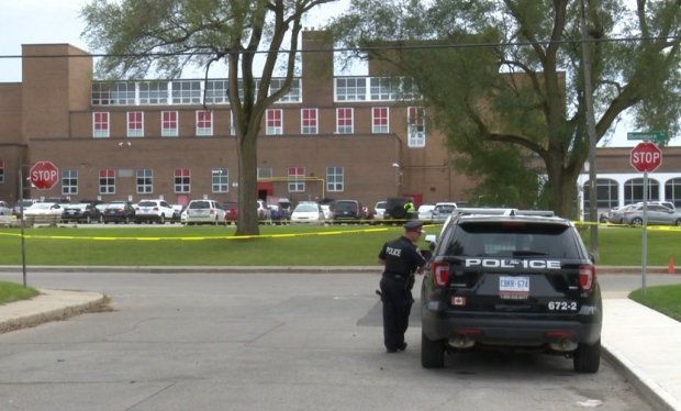An Ontario mother witnessed her son's stabbing death outside of his school