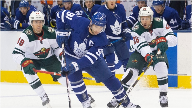 Maple Leafs overcome slow start to hand Wild another loss