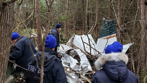 Post-mortem examinations for Kingston plane crash victims could take days, coroner says