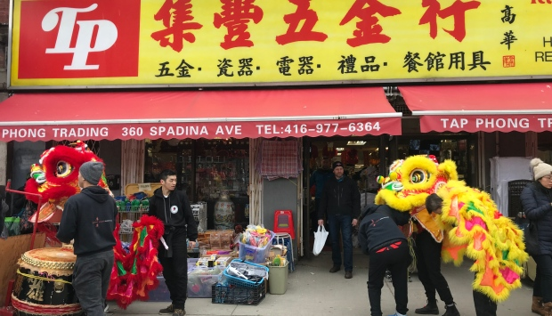 Chinatown support walk