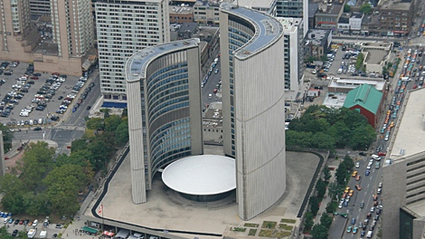 Toronto's City Hall in 2007. (Tom Podolec / CTV Toronto)