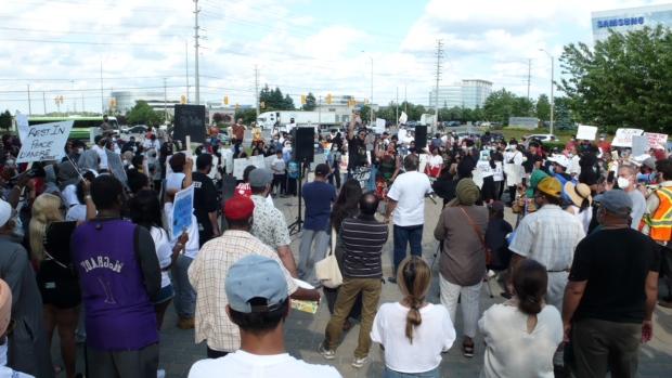 Peel protest