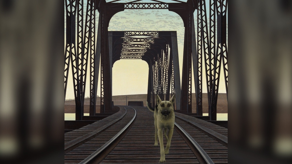 "Alex Colville ""Dog and Bridge"""
