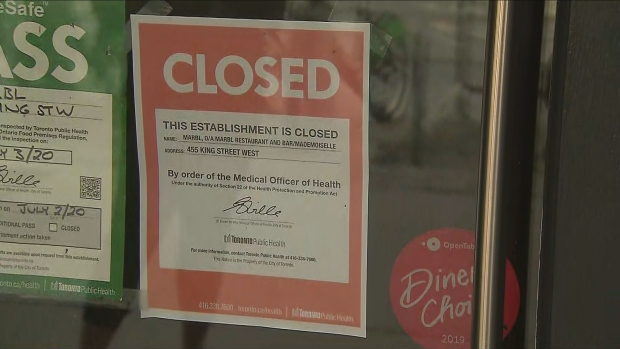 King Street bars and restaurants ordered closed by Toronto Public Health
