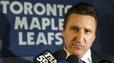 Toronto Maple Leafs general manager John Ferguson Jr. speaks to reporters before the first round of the National Hockey League Entry Draft in Columbus, Ohio, Friday, June 22, 2007. (Ryan Remiorz / THE CANADIAN PRESS)