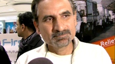 Mohammad Saleem said earthquake victims are lying on the floor in Haiti because hospitals are overhwelmed.
