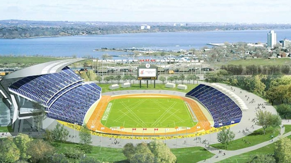 According to the Toronto 2015 Bid, the Pan American Stadium in Hamilton will be a new 15,000-seat stadium will include a leading-edge 400m running track with all the required areas for throwing and jumping disciplines.