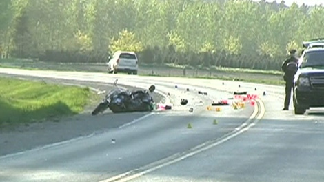 A motorcycle crash has left an off-duty officer in critical condition, Saturday, May 20, 2012.