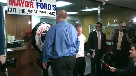 Toronto City Hall reacts after Mayor Rob Ford abandons his public weight-loss challenge.
