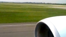 Passenger Andrew Burnstein shared his video of a plane's emergency landing at Pearson airport in Toronto.
