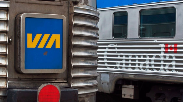 A Via rail train is seen in this file photo. (The Canadian Press/Andrew Vaughan)