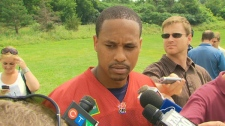 Toronto Argonauts quarterback Cleo Lemon talks to reporters on Tuesday, July 13, 2010.