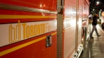 A Toronto fire truck is seen in this file image. (Aaron Vincent Elkaim / The Canadian Press)