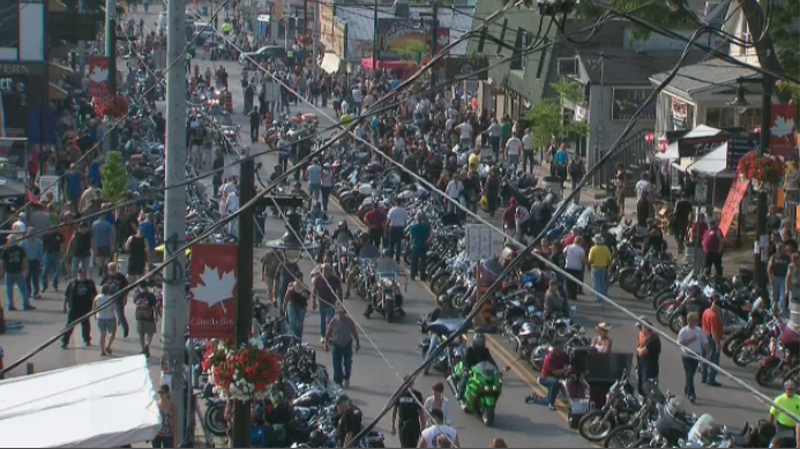 Thousands of bikers and motorcycle enthusiasts have descended on Port Dover, Ont., for the town's traditional Friday the 13th rally.