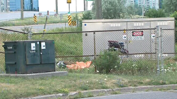 The body of a 20-year-old man is shown at McCowan Road and Highway 401 in Scarborough, Ont.
