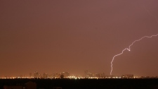 MyNews contributor Michael Lawson sent in this image of lightning in Mississauga Thursday, July 26,