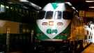 A GO Transit train arrives at Union Station in Toronto. (The Canadian Press/Adrian Wyld)