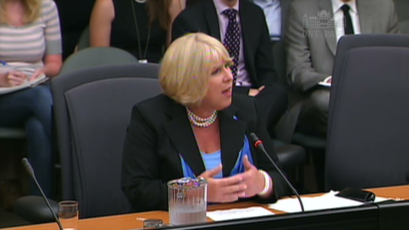 Health Minister Deb Matthews speaks in Toronto about ORNGE, Tuesday, July 31, 2012.
