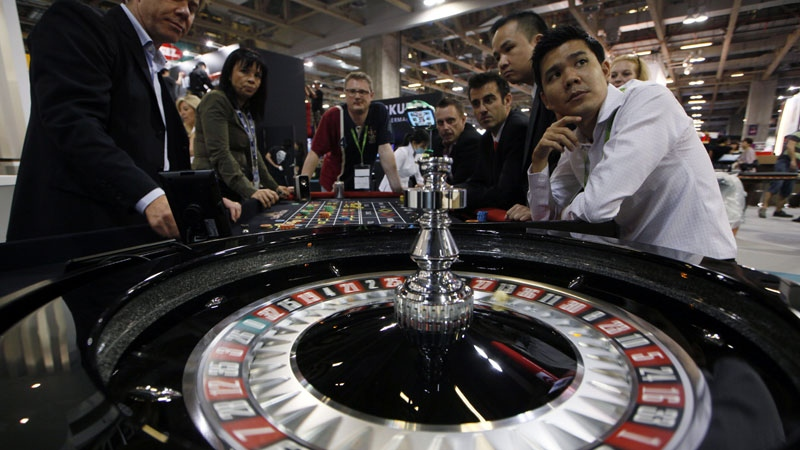 A roulette table in Macau, Tuesday, May 22, 2012. (AP / Kin Cheung)