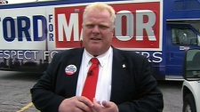City of Toronto Coun. Rob Ford discusses the integrity commissioner's report, Monday, Aug. 23, 2010.