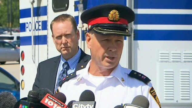 Peel Regional Police Insp. George Koekkoek identifies the victim in the body parts probe, Tuesday, Aug. 21, 2012.