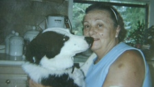 Owner Noemi Stefenatti is distraught after a pit bull killed her border collie in an attack on Thursday, Aug. 23, 2012.