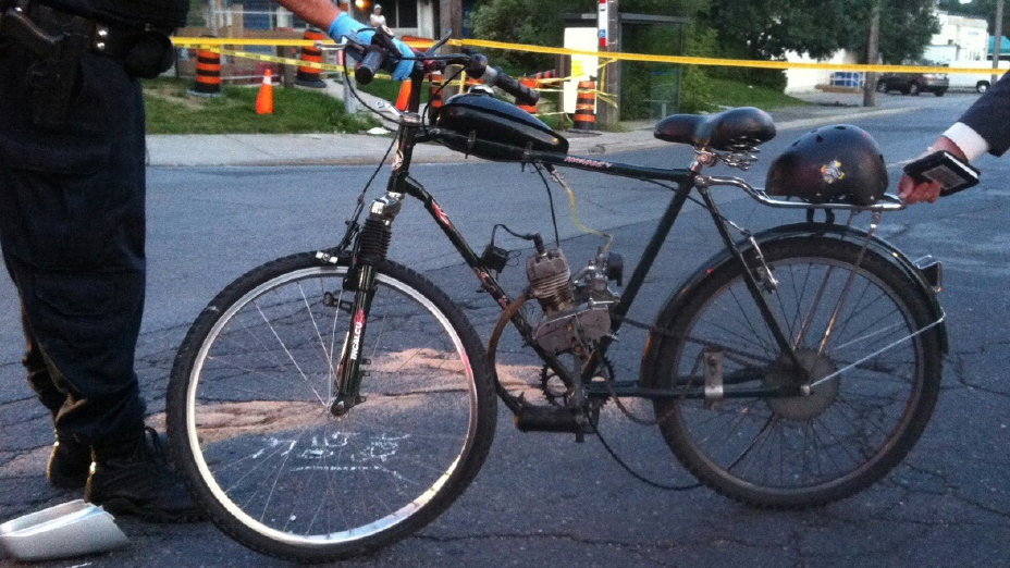 Police released a picture of the power-assisted bicycle that a man was riding when he was struck and killed on Thursday, Aug. 23, 2012. (Toronto Police Services handout)